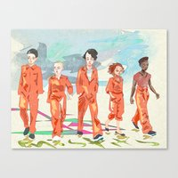 misfits Canvas Prints featuring Misfits by aNiark