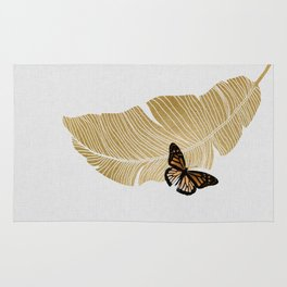 Butterfly & Palm Rug