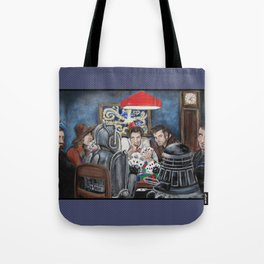 Doctors Playing Poker  Tote Bag