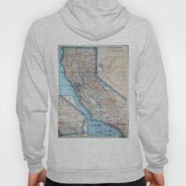 Vintage Map of California (1921) Hoody