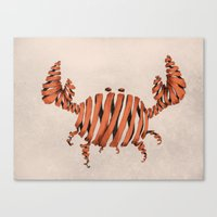 crab Canvas Prints featuring Crab by Claire.H