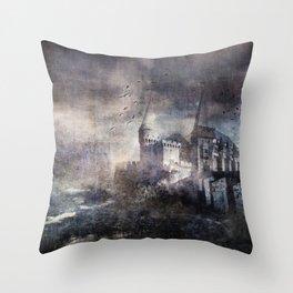 Dracula's Castle Throw Pillow