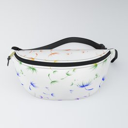 Dandelion Seeds Gay Pride (white background) Fanny Pack
