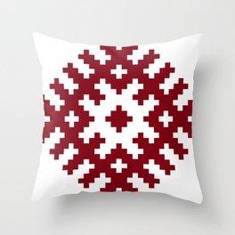 Latvian symbol Throw Pillow