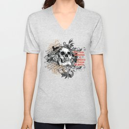The life of the dead is retained in the memory of the living Unisex V-Neck