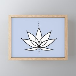 Imperfect Lotus with Background Framed Mini Art Print