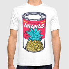 Condensed ananas LARGE White Mens Fitted Tee