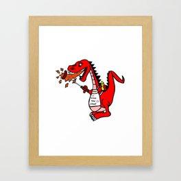 BBQ Dragon Framed Art Print