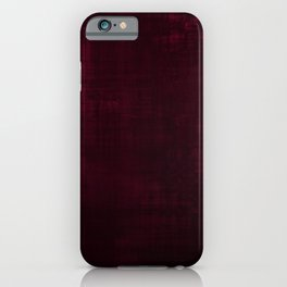 Red velvet grunge texture looking cool iPhone Case