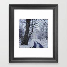 Snowy road. Framed Art Print