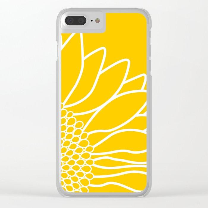 Sunflower Cheerfulness Clear iPhone Case