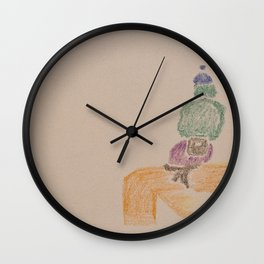 On a sit Wall Clock