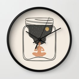 Life in a Jar Wall Clock