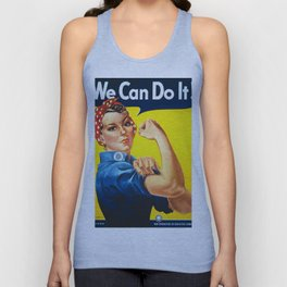 Rosie The Riveter Vintage Women Empower Women's Rights Sexual Harassment Unisex Tank Top