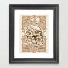 Skull Flower Art Print Framed Art Print