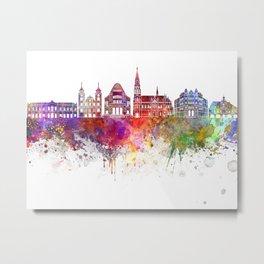 Osijek skyline in watercolor background Metal Print