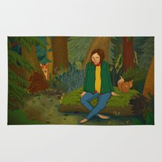 Chilling in the Woods Rug