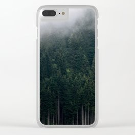 Mystic Pines - A Forest in the Fog Clear iPhone Case