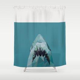 shark graphic | feyerabend illustration Shower Curtain