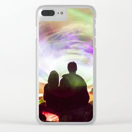 Laser show crowd Clear iPhone Case