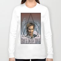 true detective Long Sleeve T-shirts featuring True Detective by Pop Vulture