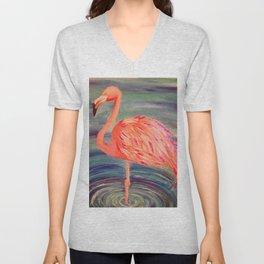 Fancy Flamingo Unisex V-Neck