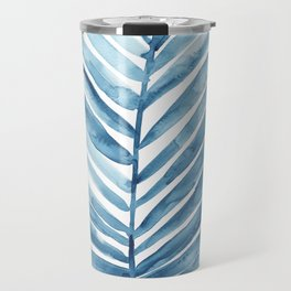 Blue Palm Leaf Travel Mug