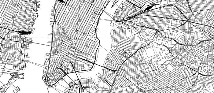 New York City White Map Coffee Mug