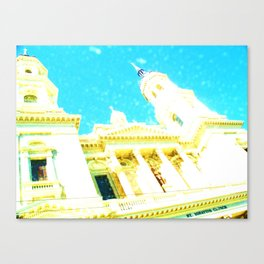 A Building to be Discovered Canvas Print