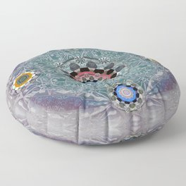 Sacred Resonance Cosmic Mandala Print Floor Pillow