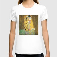 klimt T-shirts featuring Gustav Klimt The Kiss by Art Gallery