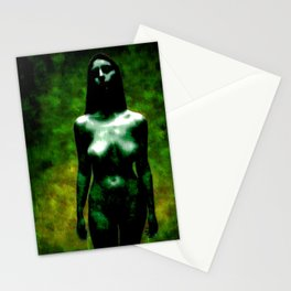 """NUDE """"walk in green"""" Stationery Cards"""