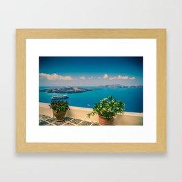 Santorini i Framed Art Print