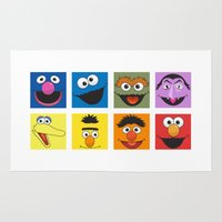 sesame street Area & Throw Rugs featuring Sesame Street  by Jconner