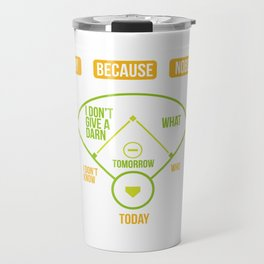 Baseball Diagram Why Because Nobody Gift Travel Mug