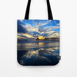 Huntington Beach Sunset   12/15/13 Tote Bag