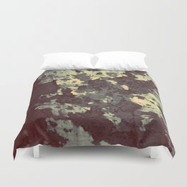 silver and bronze Duvet Cover