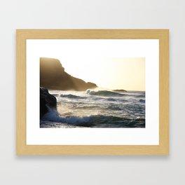 Sunset waves - Fuerteventura Framed Art Print