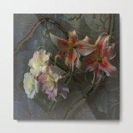 The Begonia Brocade Metal Print