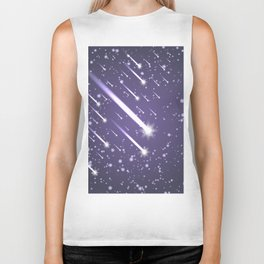 Flying meteors. Ultra violet. Biker Tank