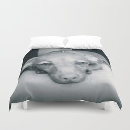 Day Dreaming Doxie Duvet Cover