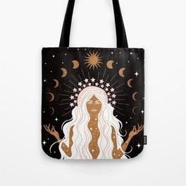 Summer Solstice Moon Goddess Tote Bag