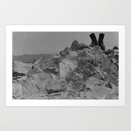 My Boots on Squaw Peak Art Print