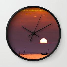 morning fishing Wall Clock