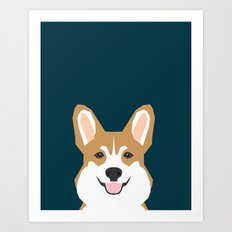 Teagan - Corgi Welsh Corgi gift phone case design for pet lovers and dog people Art Print