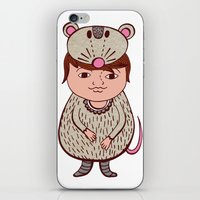 mouse iPhone & iPod Skins featuring Mouse by Carmen Sarrion