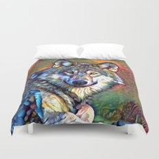 Aura of the Wolf Duvet Cover