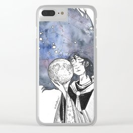 goddess of the moon Clear iPhone Case