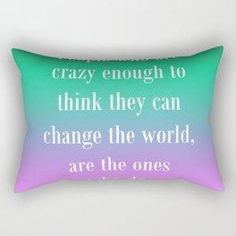 Change the World Rectangular Pillow
