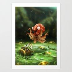 The Kraken! Art Print